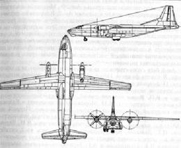 Схема самолета Ан-8.